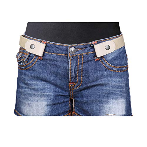 No Buckle Women/Men Stretch Belt Elastic Waist Belt Up to 34