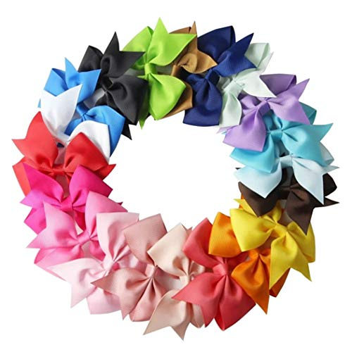 20Pcs 2.8'' Boutique Hair Bows Clips For Baby Girls Teens Toddlers Kids Children