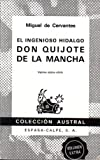 Image of Don Quijote de la Mancha (Coleccion Austral, Vigesima septima edition)