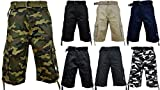 Pro Club Men's Twill Cargo Short Pants - Khaki