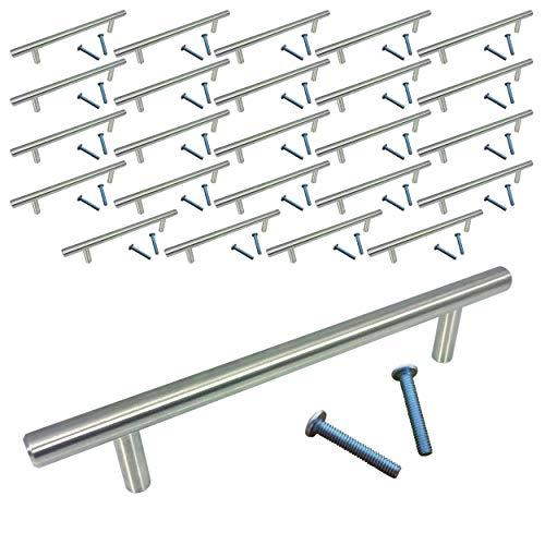 "Swiss Kelly Satin Nickel Kitchen Cabinet Bar Pull Drawer Handle (25 Pack, L: 7"" CC: 5"")"