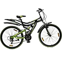 HERCULES TOP Gear CX-70 26X20 18 Speed Black/Green Steel Bike/Bicycle