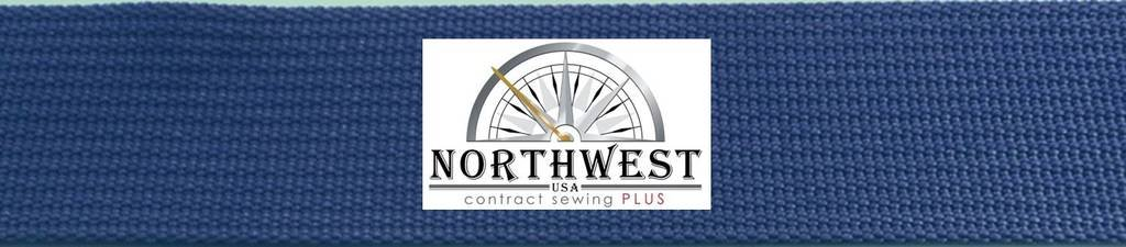 The Northwest Company 17337 Nylon Backpack Webbing Available in 4 Widths, 6 lot sizes, 29 colors. (1'' Cobalt Blue, 100 yards) by The Northwest Company