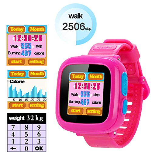 GBD Game Smart Watch Kids Children Boys Girls Gift Travel Camping Camera 1.5'' Touch 10 Games Pedometer Timer Alarm Clock Learning Toys Wrist Watch Bracelet Health Monitor Summer Vacation by GBD (Image #3)