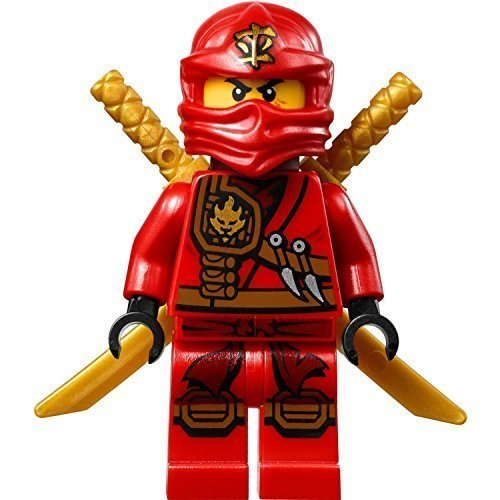 LEGO Ninjago Minifigure - Kai Zukin Robe (Red Ninja) with Dual Gold Swords (70745)]()