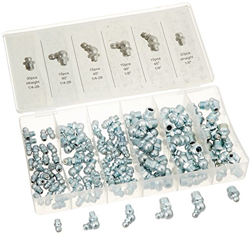 110pc SAE Hydraulic Grease Fitting Assortment Set