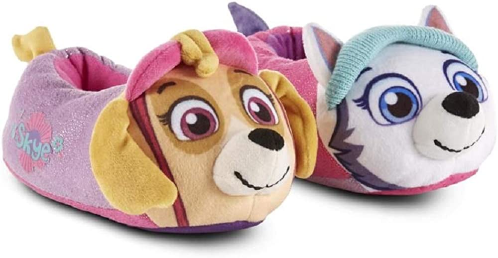 Nickelodeon Paw Patrol Toddler Slippers Little Girls NEW Size 5-6 /& 9-10