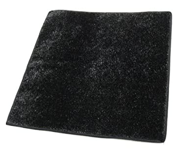 BLACK Artificial Grass Turf Carpet Indoor / Outdoor Area Rug. Premium Nylon Fabric FINISHED EDGES .UV-Protected - weather and Fade-resistant ,100% UV olefin. Light Weight Marine Backing. MANY SIZES and Shapes. Rectangles, Squares, Circles, Half Rounds, Ov