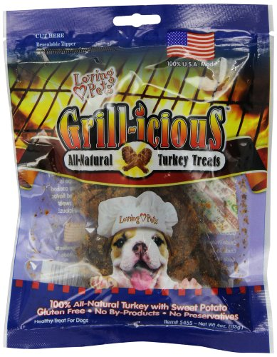 Loving Pets Grill-icious Dog Treats, Turkey, 4-Ounce by Loving Pets (Image #3)