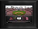 "St. Louis Cardinals Framed 5"" x 7"" Stadium Collage with a Piece of Game-Used Baseball - MLB Team Plaques and Collages"