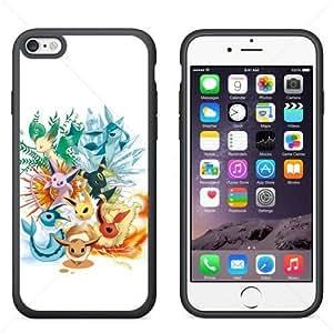 "Creative New for Pokemon Cute EEVEE iPhone 6 4.7"" TPU Case Cover (Black)"