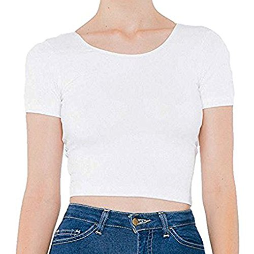 Small Ouverture Coton Blanc rsa8380 Pull Apparel Élasthanne Aa041 Femmes T Relax Jabot over American shirt Col wBOZHq