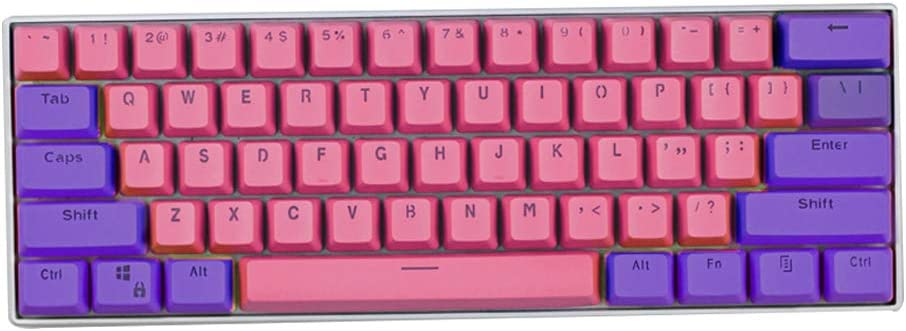 Keycaps, 61 Teclas PBT Teclas Dos Colores de Juegos Teclas Mecánicas para Teclado Ducky / GH60 / RK61 / ALT61 / Annie/Teclado Poker Teclas (Sólo se ...