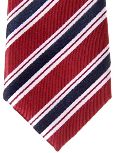 Maroon Red Pattern Blue Tie Various and Boy's Pre Preppy Stripe Woven Microfiber tied Colors Navy HwBBqv