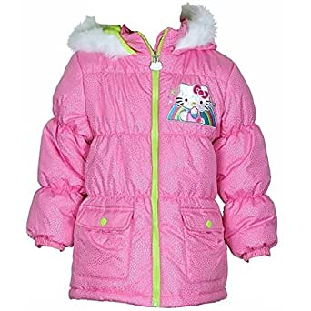 Amazon.com: Hello Kitty Little Girls' Pink Sparkle Hooded