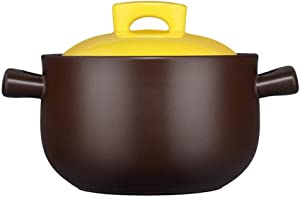 Stew Pot Cookware Terracotta Casserole Dishes with Lids-Heat Storage and Energy Saving, Easy to Clean-3.8L