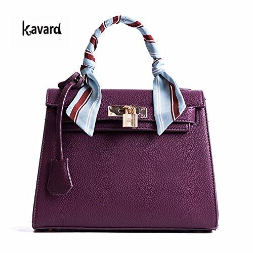 AASSDDFF Luxury Handbag Crossbody Bags para mujer 2017 Fashion Design Women's shoulder bags Ladies bolsos, verde Púrpura
