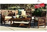 Patio Coffee Table Outdoor Furniture Wood Modern Garden Backyard Brown Outside & E book By Easy2Find