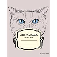 Address Book: Cat Vintage Hipster :Name Email Mobile Home Work Fax Number: Big Alphabetical Organizer Journal Notebook.Large Print, Font, 8.5 by 11,Over 300 Spaces