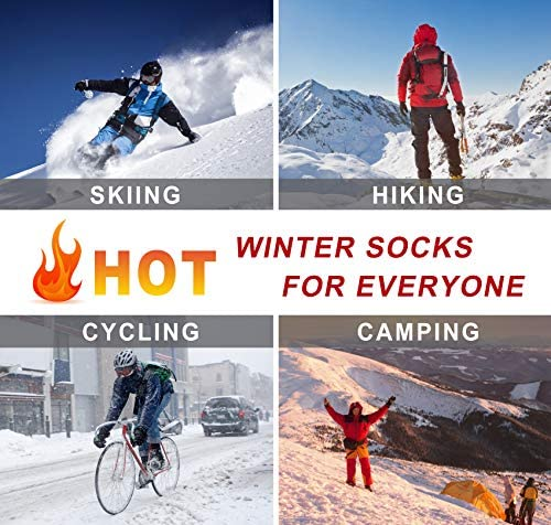 Thermal Socks for Men, Winter Warm Socks Mens Womens for Cold Weather, Outdoor Sports
