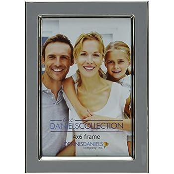 Amazon.com - Dennis Daniels Enamel Frame with Silver Plate, 5 x 7 ...