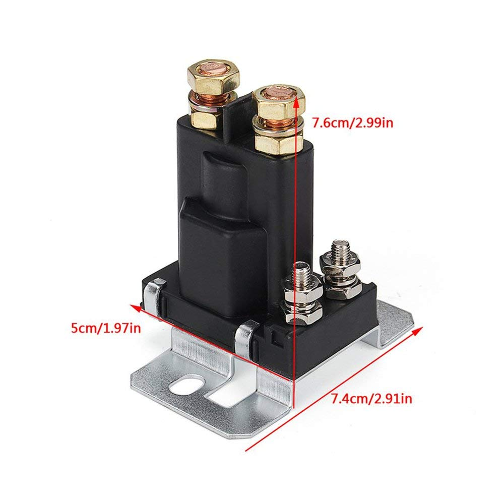 Unitedheart 4 Pin 12V Amp 500A Relay Car Starter On//Off Power Switch Dual Battery Isolator