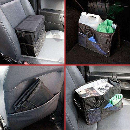 Organisateur pliable / sac de rangement voiture pour coffre ou siège - 28 x 22,5 x 13 cm - DURAGADGET