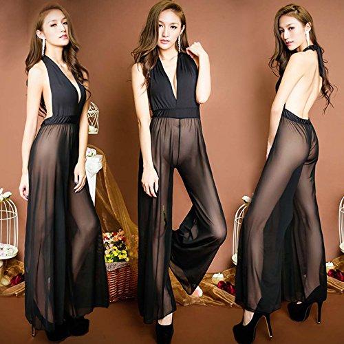 Perspektive schwarzen tiefen v-Ausschnitt Neckholder mesh Körper Kleid