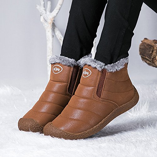 Gomnear Yellow Men Unisex Winter Hiking Sneaker Warm Couple Women Snow Boots slip Shoes Anti Lightweight qrwZ6qx