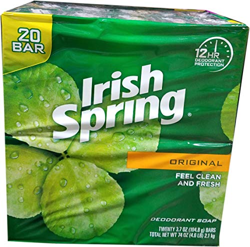 Irish Spring Original Bar Soap, 20 Count, 74 Ounce