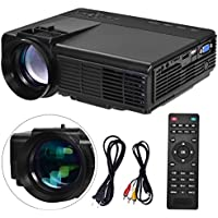 Safstar Portable Mini Projector LCD LED Video Game Home HD 1080P Cinema Theater Movie Projector