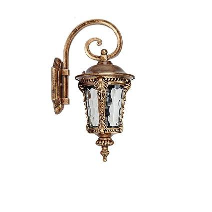 27709dd8aeaa Modeen Outdoor Glass Black Bronze Iron Wall Lamp Retro Modern Home Lighting  Wall Light Tradition