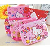 2pcs/lot Hello Kitty Canvas Hand Coin Purse & Wallet Pouch Case BAG
