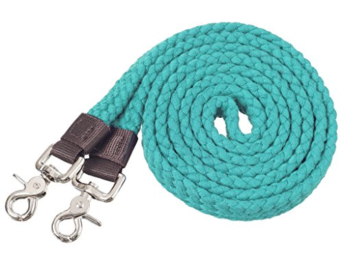 Tough-1 Pro Cotton Roping Rein Turquoise