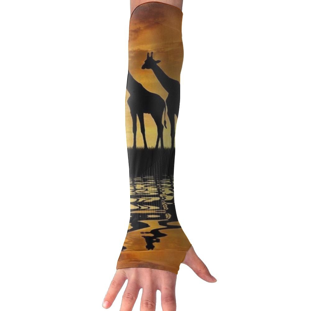 Huadduo Herd Of Giraffes In The Sunset UV Protection,Compression & Cooling Arm Sleeves For Cycling/Golf/Basketball/Other Sports