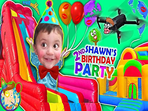 Shawn's 2nd Birthday Party! Bounce House Inflatable Outdoor Playground Giant Slides