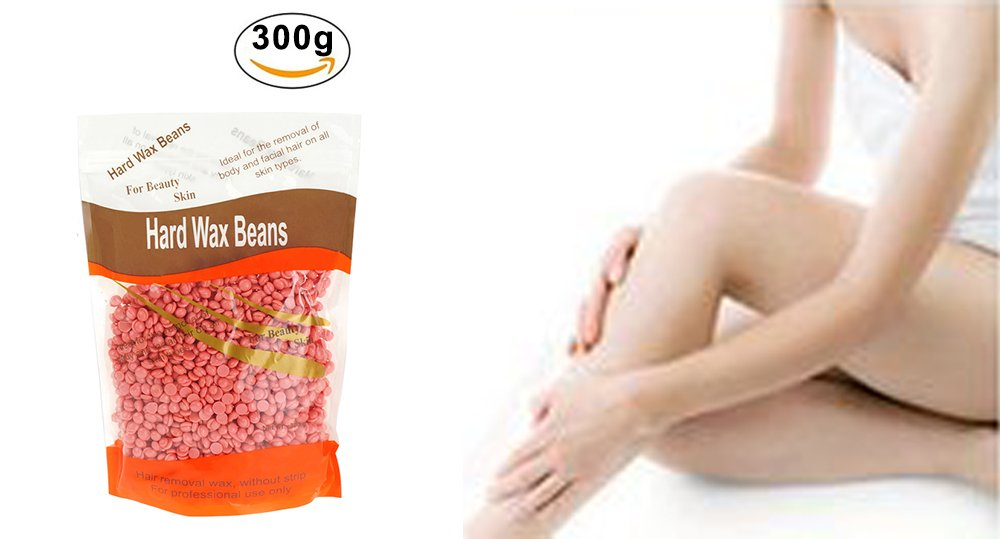 Hard Wax Beans, Natural Solid 3.5oz Hot Film Stripless full-body Facial Arm Legs Sensitive Areas Depilatory Hair Wax Removal Wax Beans for Man and Woman (Rose) Eleist