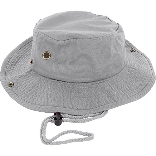 DealStock 100% Cotton Boonie Fishing Bucket Hat with String]()