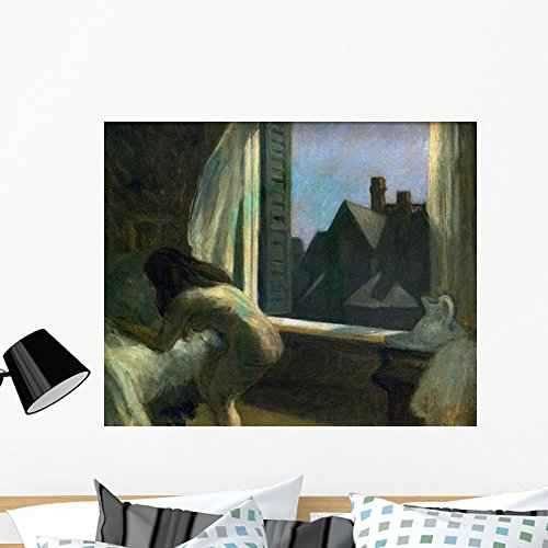 Decal Hopper (Wallmonkeys Moonlight Interior Edward Hopper Wall Decal Peel and Stick Graphic WM150094 (36 in W x 29 in H))