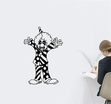 Sticker Mural Clown Cirque Clown Bouffon Jongleur Carnaval Decor