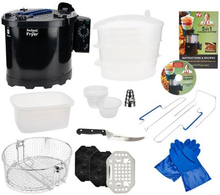 Popeil's 5-in-1 5 qt. Cooking System & Turkey Fryer w/ Accessories