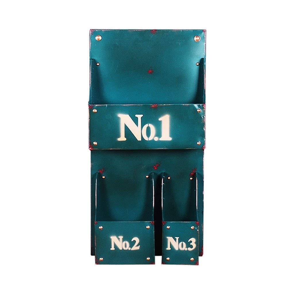 Miaoliangliang 錬鉄製のリビングルーム/オフィス用マガジンラック、緑と黄色の35 * 68 * 12 Cm (色 : 緑) B07RHN8NSH 緑