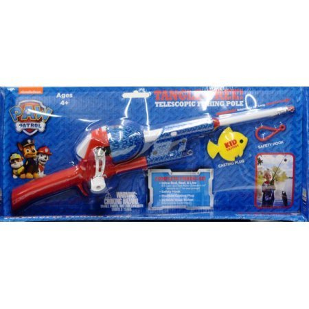 Nickelodeon Paw Patrol Kidcaster Tangle-Free Telescopic Fishing Pole Combo Kids Fishing Rod