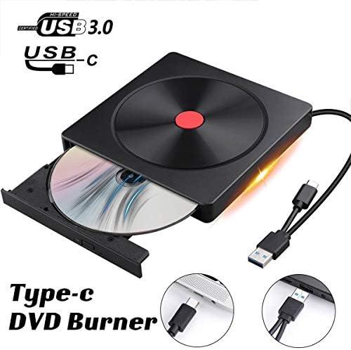 DVDドライブ オプティカルドライブのポリッシュUSB 3.0タイプC高速外付けCD / DVDドライブバーナー YYFJP