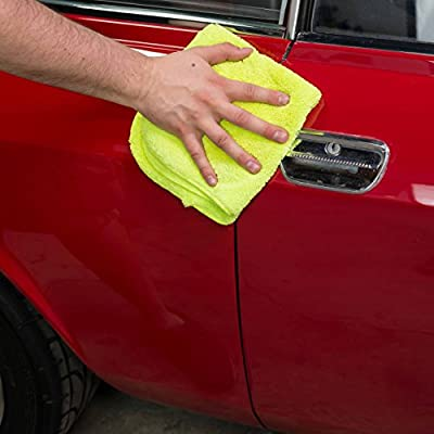 Chemical Guys MIC_333_6G El Gordo Professional Extra Thick Supra Microfiber Towels, Green (16.5 in. x 16.5 in.) (Pack of 6): Automotive