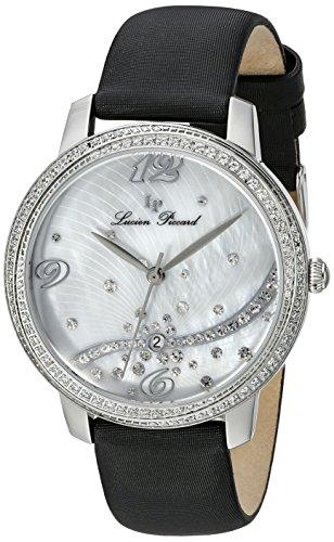 Lucien Piccard Women's LP-16520-02S-BKSS Mirage Analog Display Japanese Quartz Black Watch (Strap Mop Watch Satin)