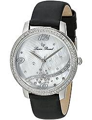 Lucien Piccard Womens LP-16520-02S-BKSS Mirage Analog Display Japanese Quartz Black Watch