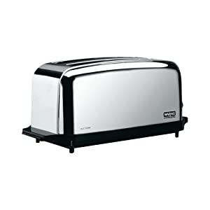 Waring WCT704 Light Duty 120V Extra Long Two-Slot 4 Slice Toaster