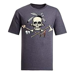 Custom Women's Cotton Short Sleeve Skulls Printed Round Neck T-Shirt in Various Colors