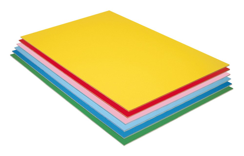 Pacon Foam Board, 6 Assorted Colors, 20'' x 30'', 12 Sheets